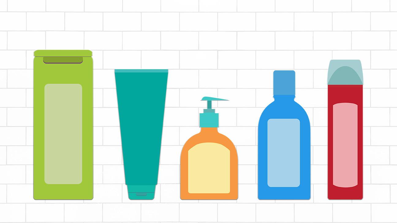 five shampoo bottles for hair loss